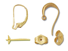 14K Gold Earring Components