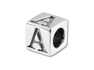 Alphabet Beads Pewter  - 5.5mm Block Letters