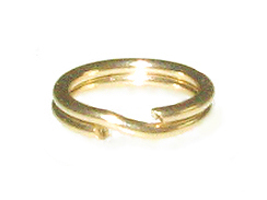 14K Gold - 6mm Round Split Ring