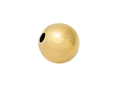 14K Gold - 4mm Round Bright Beads, 0.9mm Hole