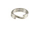 14K White Gold - 4.5mm Round Split Ring