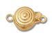 14K Gold - Small Bull' s Eye Clasp 1-Strand  *Temporarily out of stock*