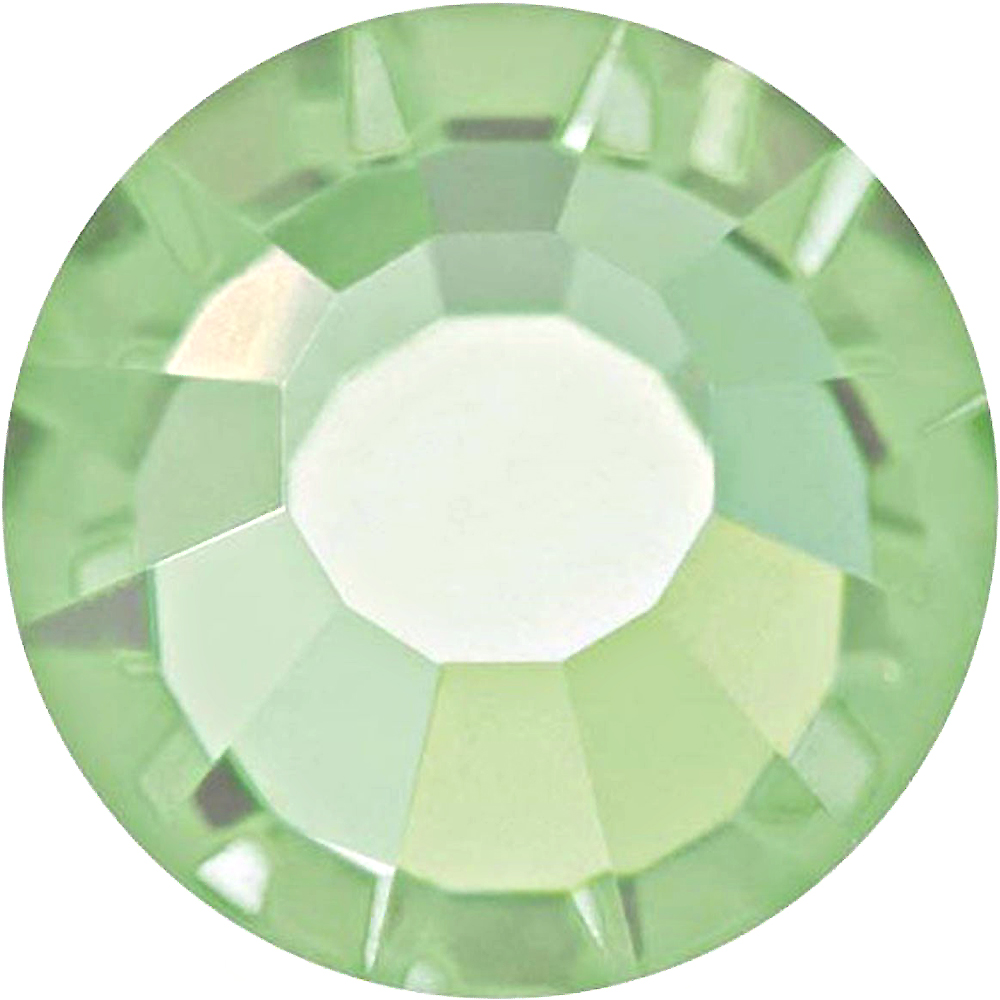 1440  Chrysolite - 2028 Swarovski SS10 Hotfix Flat Backs
