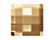 6  Crystal Golden shadow - 12mm 2493 Chessboard  Swarovski Glue On Flat Backs