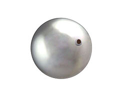 Light Grey - 10mm Round HALF-DRILLED  Swarovski 5818 Crystal Pearls Factory Pack