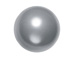 Grey - 10mm Round Swarovski Crystal Pearls Strand of 50