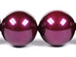 Blackberry -  10mm Round Swarovski Crystal Pearls Strand of 50