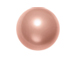 Rose Peach -  4mm Round Swarovski Crystal Pearls Strand of 100