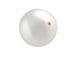 White - 4mm Round HALF-DRILLED  Swarovski 5818 Crystal Pearls Factory Pack