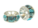 5mm Swarovski Rhinestone Rondelles Silver Plated Blue Zircon Bulk Pack of 144