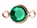 Swarovski Crystal Rose Gold Plated Birthstone Channel Links or Connectors - Emerald