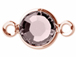 Swarovski Crystal Rose Gold Plated Birthstone Channel Links or Connectors - Light Amethyst 250