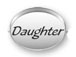 Daughter Sterling Silver Oval Message Bead
