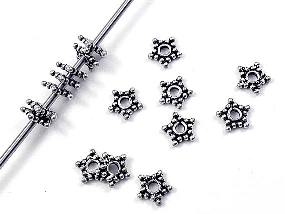 5.5mm 5-Point Star Bali Bead *New Item*