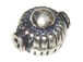 11x9mm  Bali Style Silver Bead