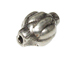 9.8x6.1mm Bali Style Silver Bead
