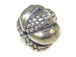 9x12.5mm  Bali Style Silver Bead