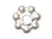 5mm Bright White Bali Style Silver Daisy Strand   (Approximately 138 beads).  1.5mm Thick