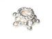 8mm 5-Point Star Brght White Bali Silver Bead Cap