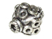 9.4x8.5mm Bicone Shape Bali Style Silver Bead