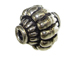 10.1x10.3mm Decorative Bali Style Silver Bead