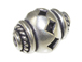 13.1mm Decorative Bali Style Silver Bead