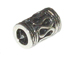 7+mm Long Turkish Silver Tube Bead with Large hole