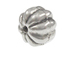 6.5mm Melon Shape Bali Style Silver Beads