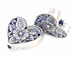 Sterling Silver Heart Floral Bead (Bulk Pack of 15) *VERY SPECIAL PRICE*