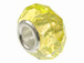 Yellow Faceted Glass Bead