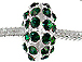 14mm Rhinestone Plated Beads - Emerald