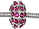 14mm Rhinestone Plated Beads - Rose