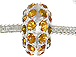 14mm Rhinestone Plated Beads - Topaz