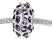 14mm Rhinestone Plated Beads - Tanzanite