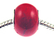 Large Hole Synthetic Gemstone Beads - Coral Red