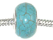 Large Hole Synthetic Gemstone Beads - Turquoise
