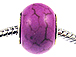 Large Hole Synthetic Gemstone Beads - Orchid Pink