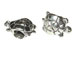 Sterling Silver Turtle Large Hole Bead-8x12.75x6.5mm (4mm Hole)