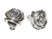 Sterling Silver Rose Large Hole Bead-9.3x9.5mm (3.9mm Hole)