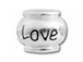 10mm Sterling Silver LOVE bead with 4.5mm hole