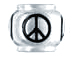 10mm Sterling Silver Peace Sign  bead with 4.5mm hole, Pandora Compatible
