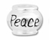 10mm Sterling Silver PEACE  bead with 4.5mm hole, Pandora Compatible