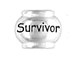 Sterling Silver SURVIVOR Large Hole Bead