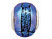 15x10mm Paula Radke Dichroic Glass Bead with Sterling Silver Core - Fantasy Blue