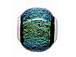 15x10mm Paula Radke Dichroic Glass Bead with Sterling Silver Core- Supernova