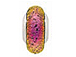 14mm Paula Radke Dichroic Glass Rondelle Bead with Sterling Silver Core - Neon Fushia