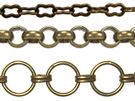 Antique Brass Finish Chains
