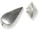 Brushed Silver Beads