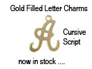 Gold-Filled Cursive Script Letter Charms