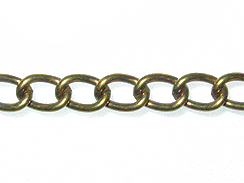 Curb Chain: Antique Brass Finish